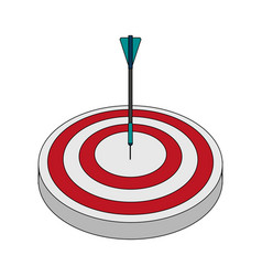 Color image top view target with arrow vector