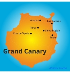 Color map of grand canary vector