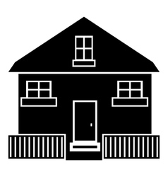 Cute house icon simple style vector