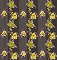 Dark seamless pattern with flowers vector