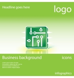 Electronics business background vector
