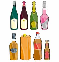 few bottles vector image
