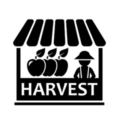 Fruit harvest on market icon vector