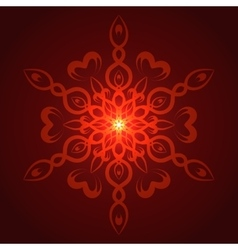 geometric red glow mandala vector image