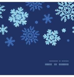 Glitter snowflakes dark horizontal frame seamless vector