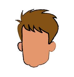 Head faceless male avatar drawing vector