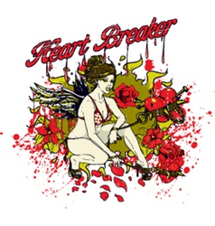 Heart breaker girl vector image vector image