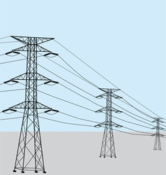 High voltage power lines vector image vector image