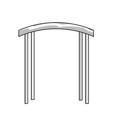 Line arc decorative design to special celebrate vector