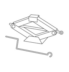 Mechanical jackcar single icon in outline style vector
