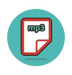 Mp3 file icon vector