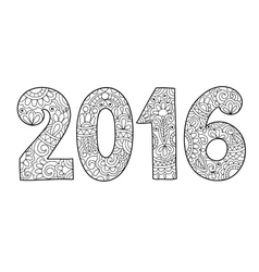 new year inscription 2016 hand written vector image