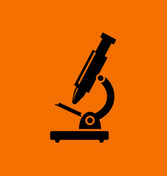 School microscope icon vector