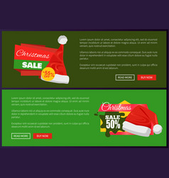 Set of christmas ads posters vector