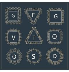 Set ornamental company logos business sign vector image vector image