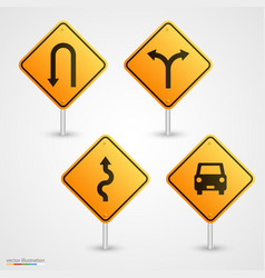 Set road sign vector