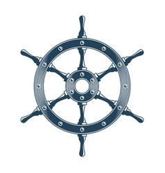 Ship steering wheel vector
