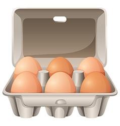 Six eggs vector