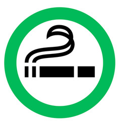 Smoking area sign vector