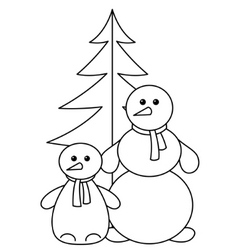 snowballs with furtree contours vector image