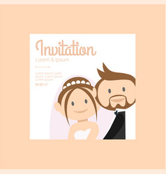 template for wedding holiday vector image