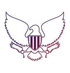 united states of america eagle vector image