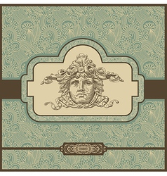 Ornate vintage template vector