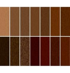 Set wooden materials vector image