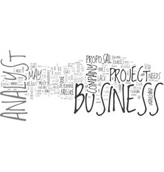 What is a business analyst text word cloud concept vector