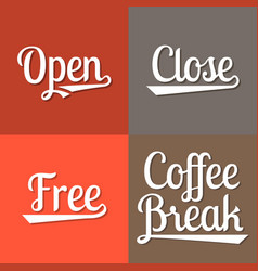 text for business working hours open vector image