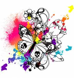Butterfly tattoo graphic vector