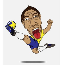 Soccer player sweden vector