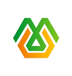Abstract geometry symbol logo vector
