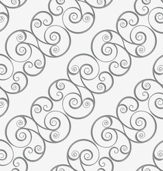 Perforated diagonal spiral flourish shapes vector