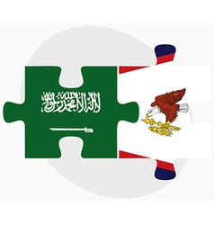 Saudi arabia and american samoa flags vector