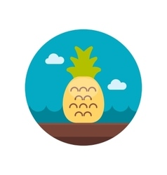 Pineapple flat icon vector