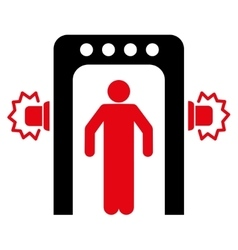 Passenger screening flat icon vector