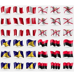 Peru jersey tokelau upa set of 36 flags of the vector