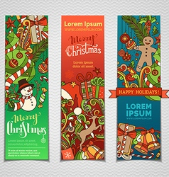 Set of colourful christmas banners vector