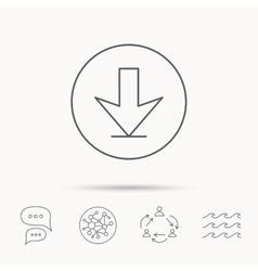 Download icon down arrow sign vector