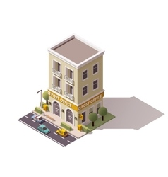 Isometric post office vector