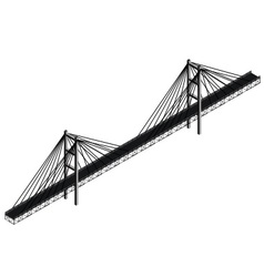 Isometric cable stayed bridge vector