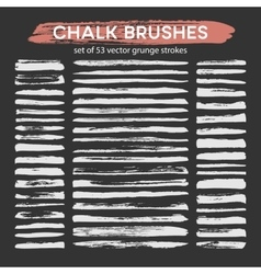 Big set of chalk brushes vector