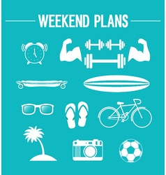 Weekend plans vector