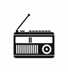 Retro radio icon simple style vector