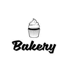 Bakery Cupcake Logo vector image