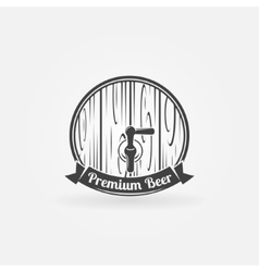 Beer wooden barrel logo vector