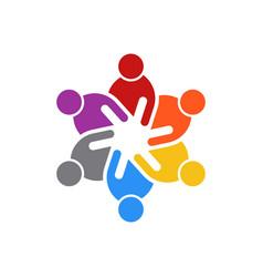 business people meeting of six people logo vector image