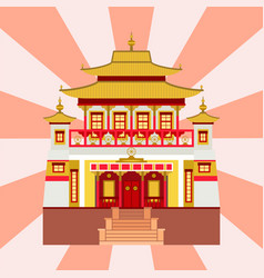 Cathedral chinese church temple traditional vector