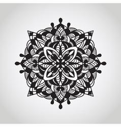 Circle pattern mandala doodle style vector